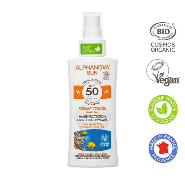 Alphanova SPF50 Travelsize web
