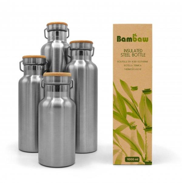 Bambaw Steel Bottle Insulated 1 Packshot Family 01 scaled