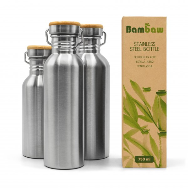 Bambaw Steel Bottle Non insulated 1 Packshot Family 01 scaled