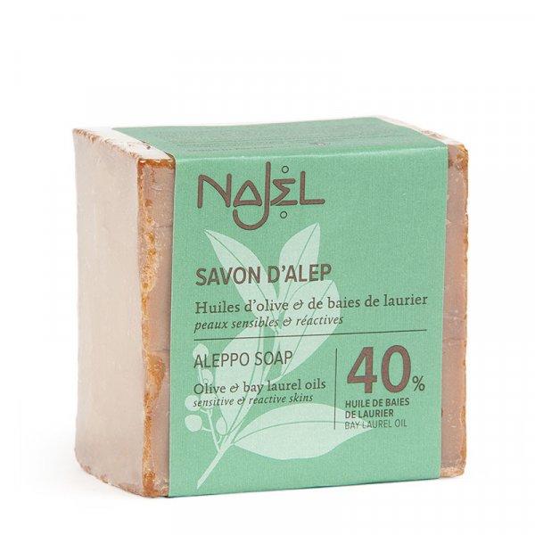 najel savon alep 40hbl peaux sensibles et reactives 185g 1