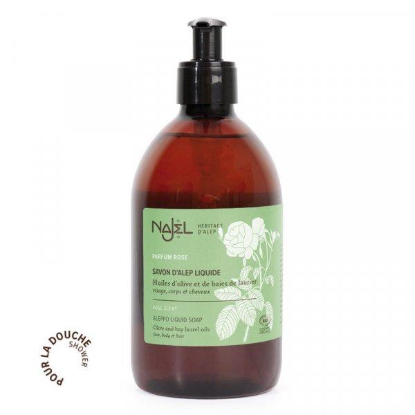 najel savon alep liquide eau rose damas 500ml certifi cosmos organic copie 1