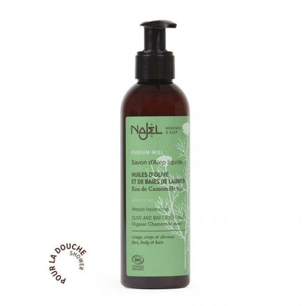 najel savon alep liquide parfum miel 200ml cosmos organic copie 1