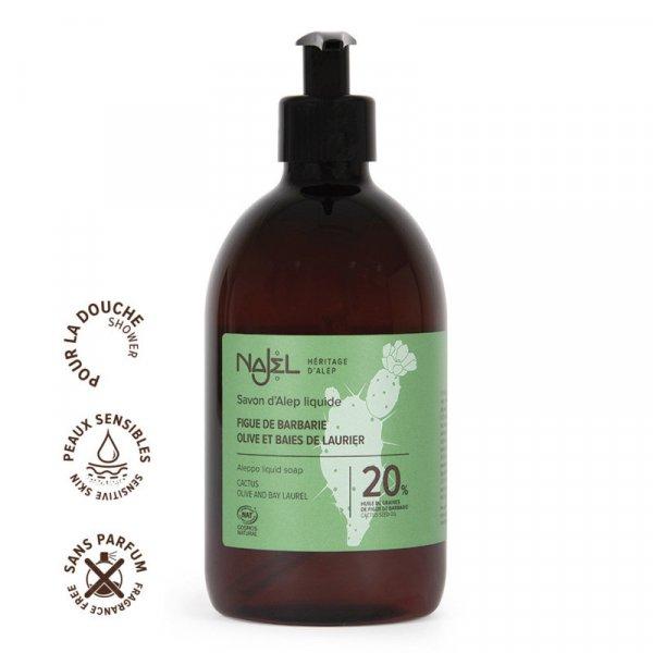 savon alep liquide 20 huile figues barbarie 500ml cosmos organic nouvelle charte 1