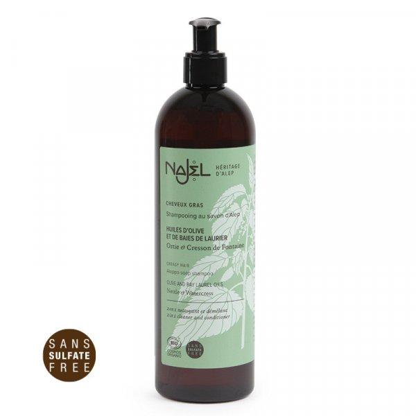 shampooing cheveux gras najel 500ml cosmos organic