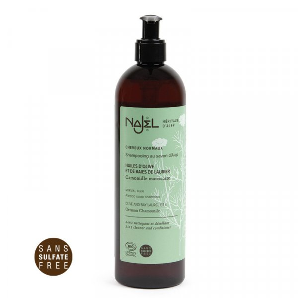 shampooing cheveux normaux najel 500ml cosmos organic