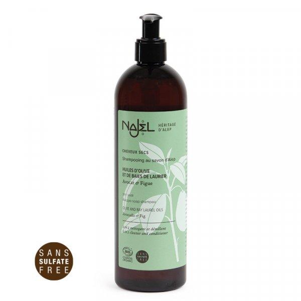 shampooing cheveux secs najel 500ml cosmos organic