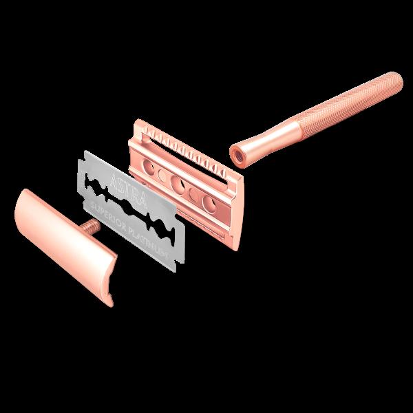 Bambaw Metal Safety Razor 1 Packshot Rose Gold 03