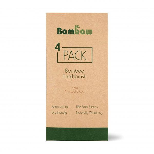 Bambaw Toothbrush 4 Pack 1 Packshot Hard 01 scaled
