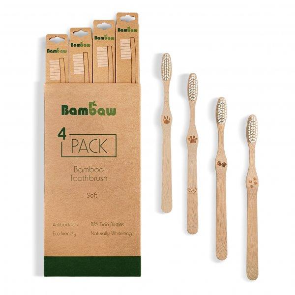 Bambaw Toothbrush 4 Pack 1 Packshot Soft 02