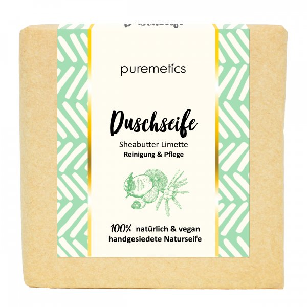 Puremetics Naturseife SheabutterLimette 02