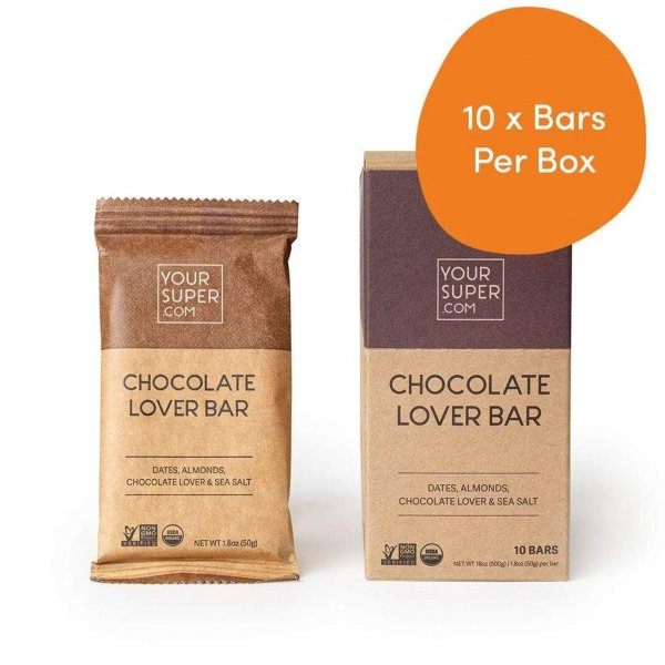your super 10x chocolate lover bars your super bars