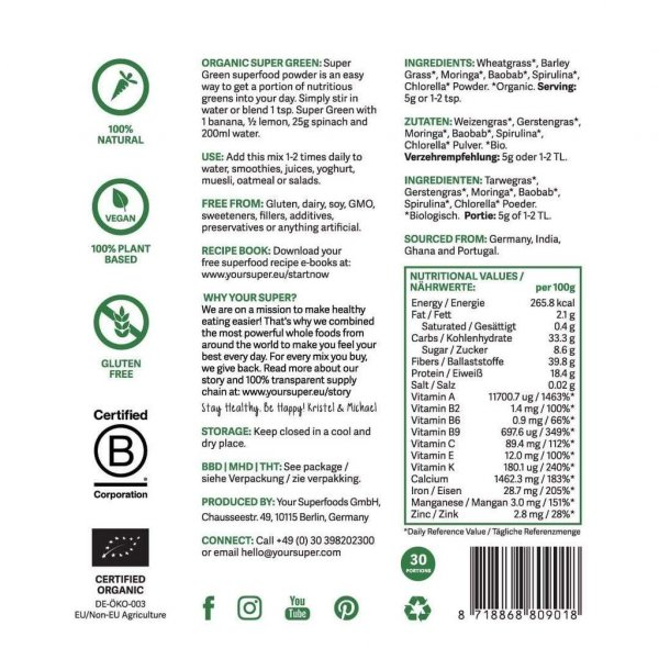 your superfoods superfood mix super green organic super foods